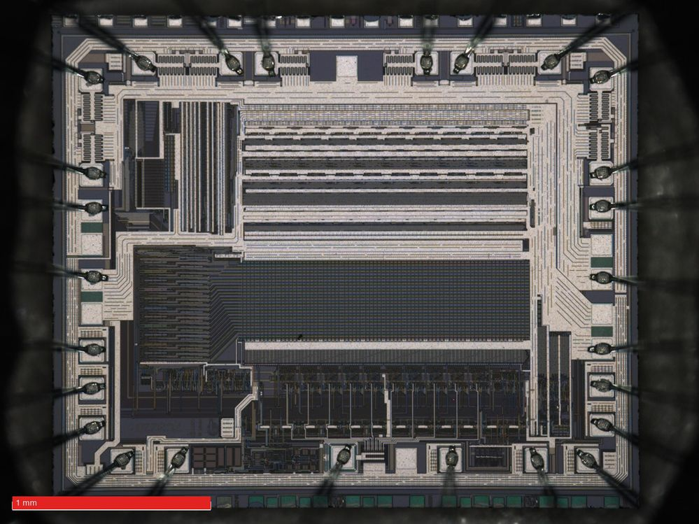 Optical macrograph of the die.
